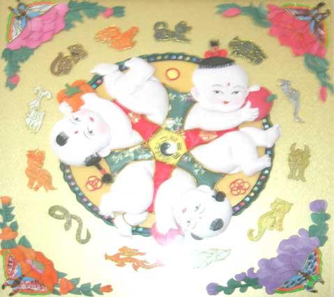 传统节日 布贴画