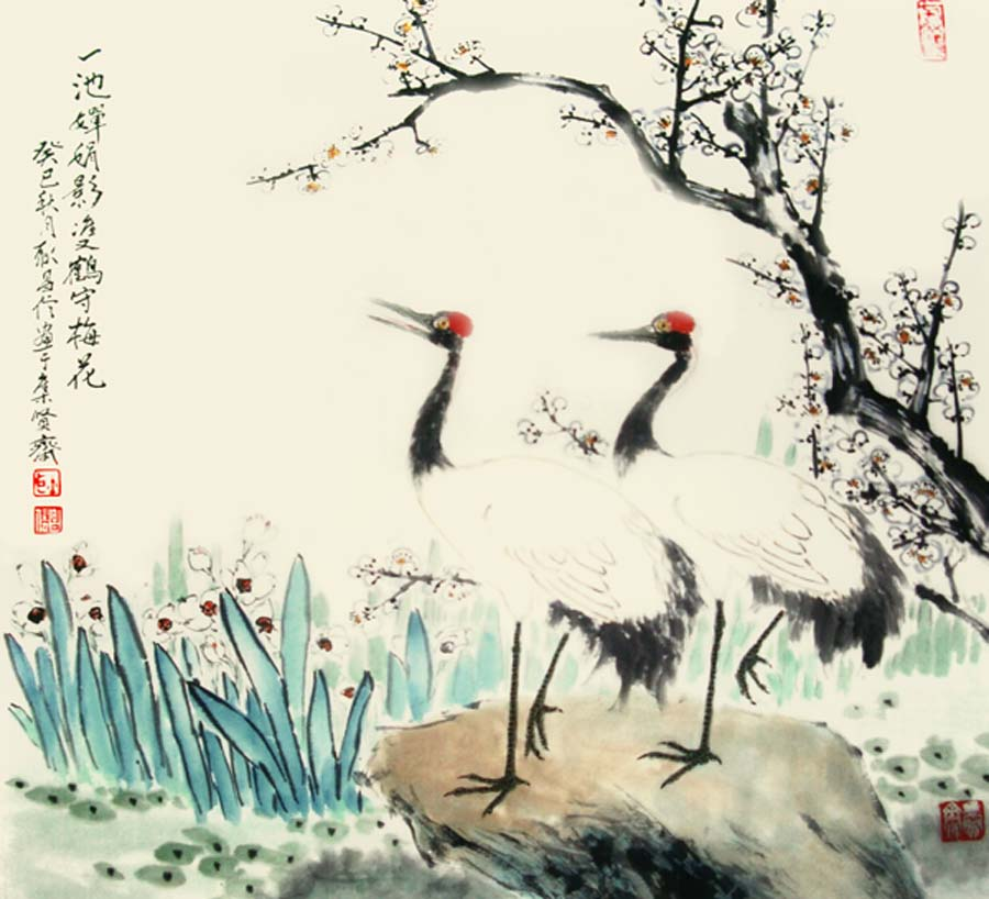 书画家何鸣,顾青蛟,许墨林,耿昌信四友书画展先后在扬州,无锡展出并于