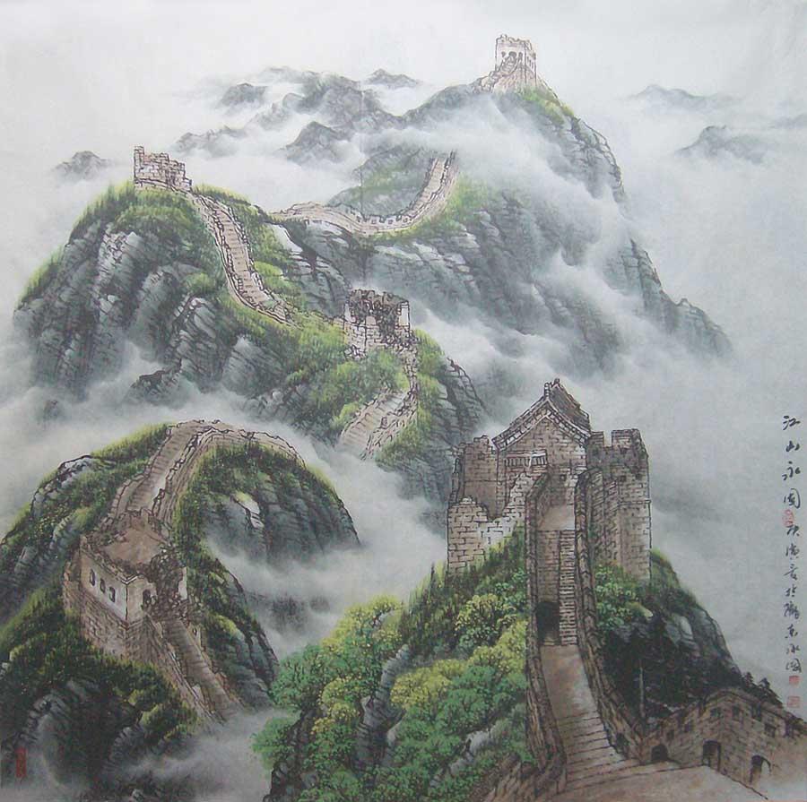感悟积累历史遗留下来的古文化遗址----万里长城,为自己(江山魂)为